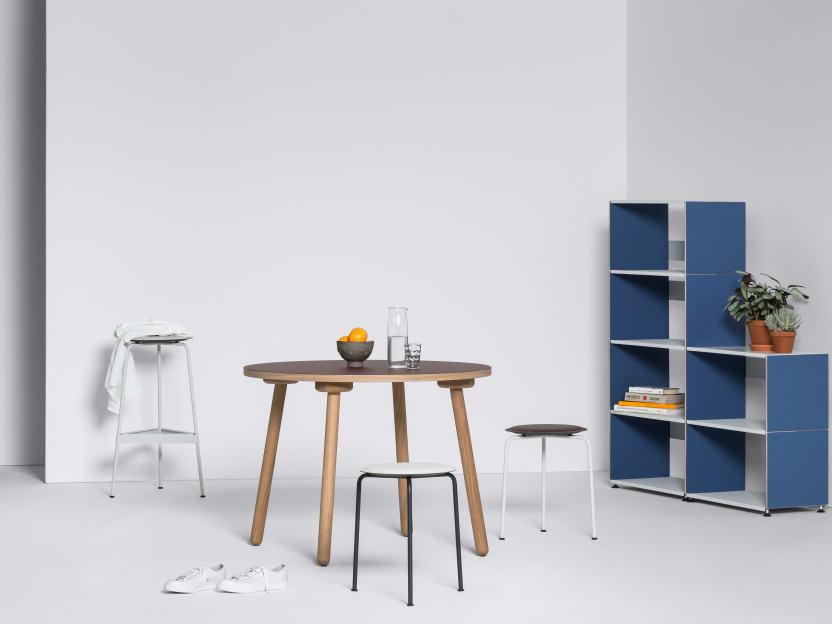 Ravioli Linoleum Barstool M by Daniel Lorch   Seating
